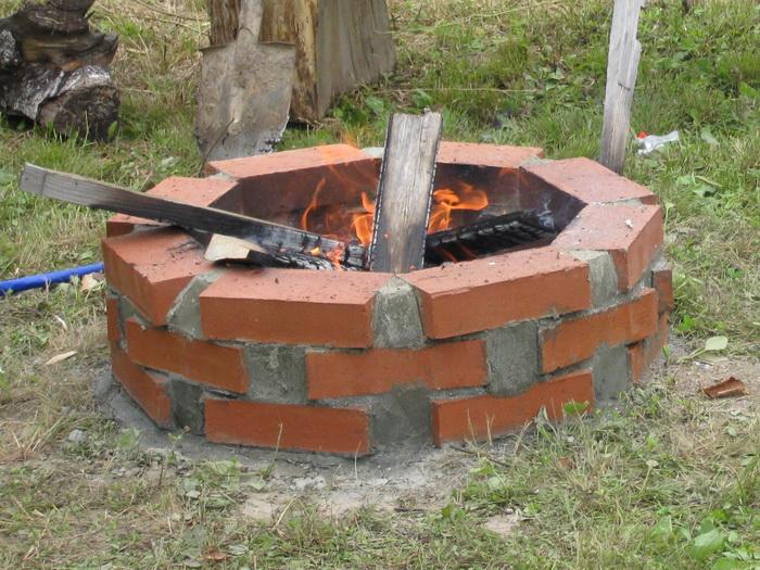 Печь для сжигания мусора на даче своими руками из кирпича
